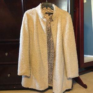 Kenneth Cole faux fur coat